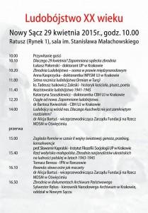Nowy Sącz 2015 konferencja