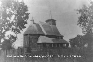 1. Kościół w Hucie Stepańskiej