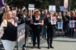 """""""Czarny Protest"""" w Szczecinie"""