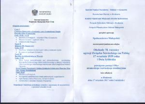 78 rocznica agresji Zwiazku Sowieckiego