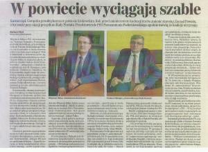 powiat krakowski -  W POWIECIE WYCIĄGAJĄ SZABLE